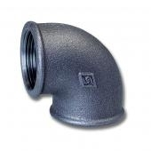 Fe koleno 21/2 FxF C90 závitové černé