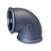Fe koleno 3/4 FxF C90 závitové černé