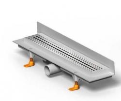 Podlahový žlab 650 mm bez mřížky  ke zdi