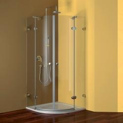 Sprchový set: kout 90 cm +vanička+sifon